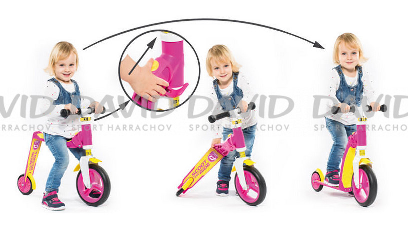 náhled Scootandride Highwaybaby Pink/Yell