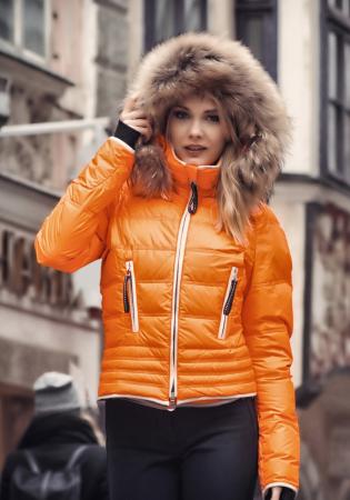 b21b7c2bbd3 detail Dámská lyžařská bunda Kelly Julia Mandarine