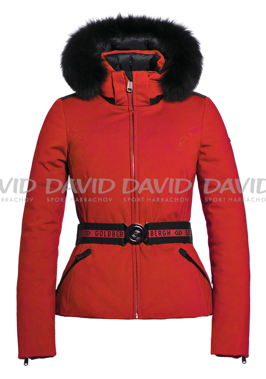 Dámská zimní bunda Goldbergh Hida Fur Jacket (real Fox) Red