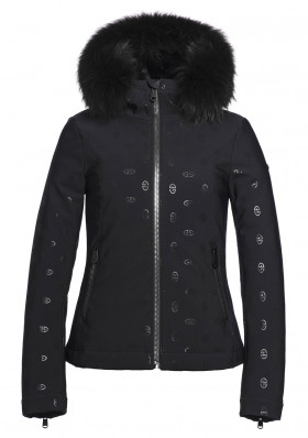 Dámská zimní bunda Goldbergh Silvia Fur Jacket (real Raccoon) Black