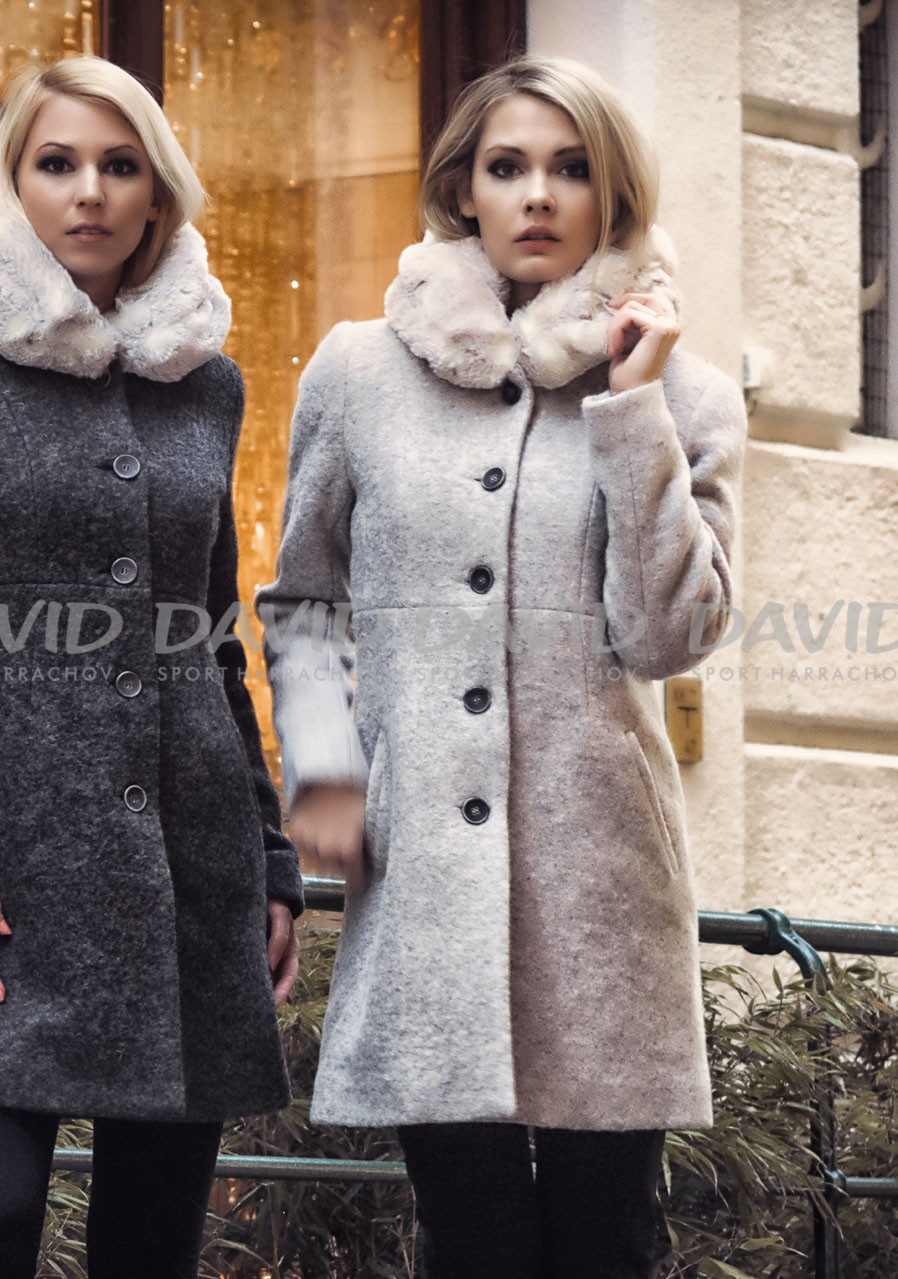 KELLY CAROLINA COAT GREY