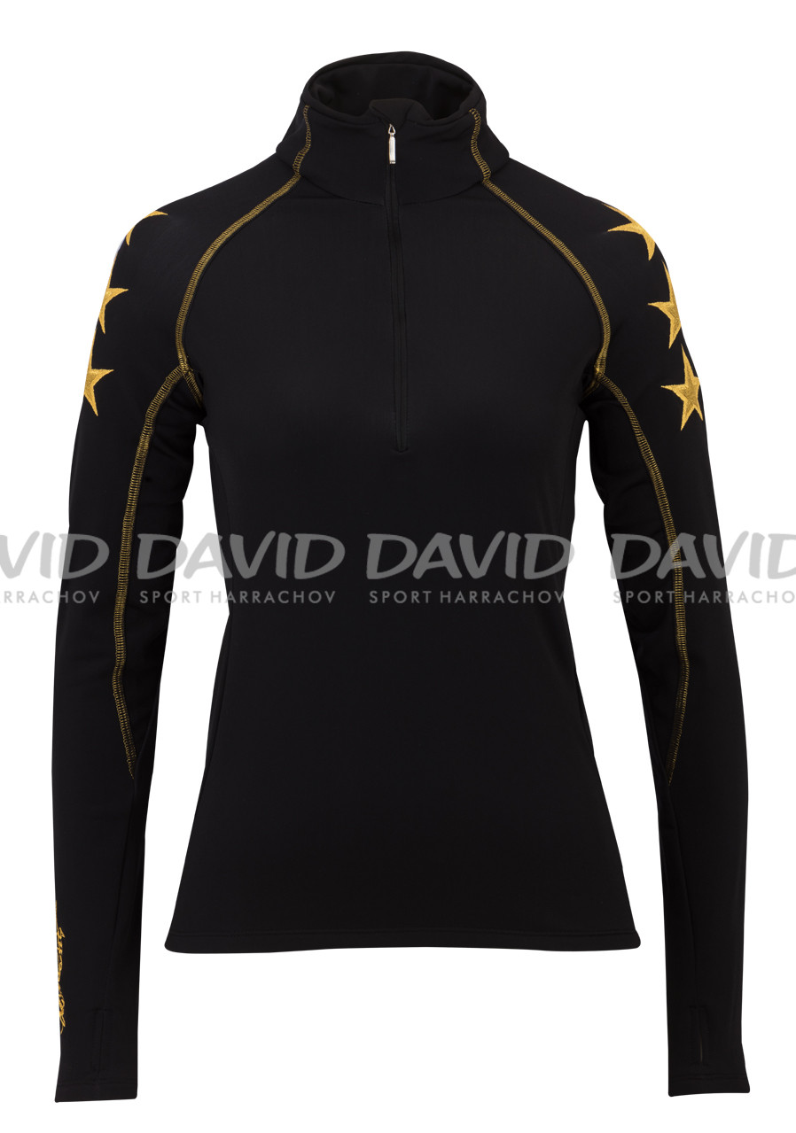 Dámský rolák HIGH SOCIETY ESTELLE SHIRT BLACK/GOLD