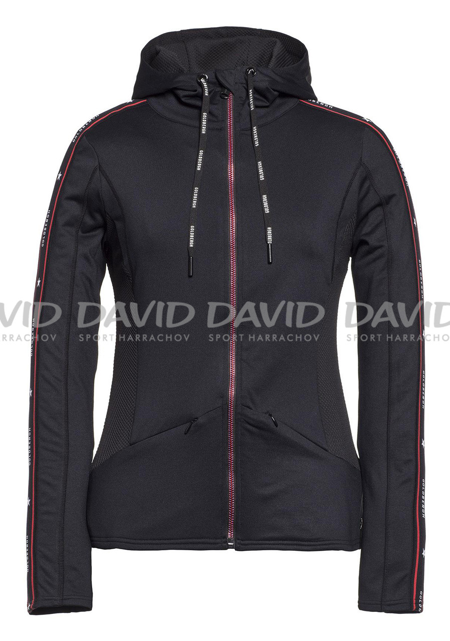 Dámská mikina Goldbergh Idea Vest (hooded) Black