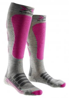 detail Dámské podkolenky X-Socks ski SILK-MERINO LADY Wht Grey f7e81cbf8f