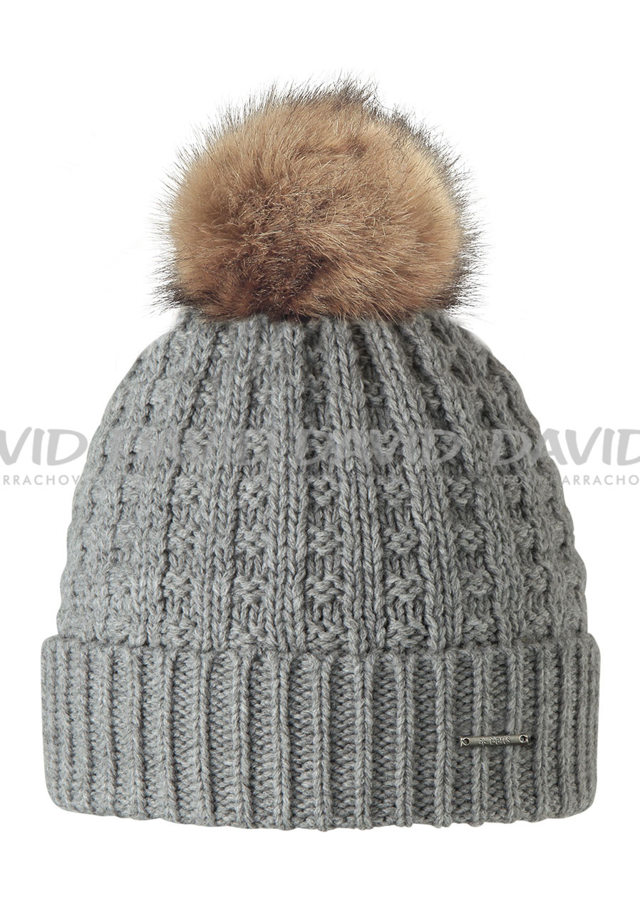 náhled BARTS FILIPPA BEANIE HEATHER GREY