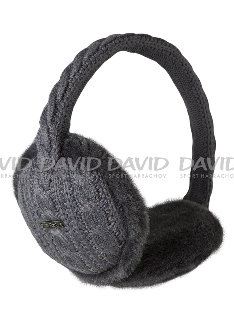 Dámské klapky na uši BARTS MONIQUE EARMUFFS DARK HEATHER