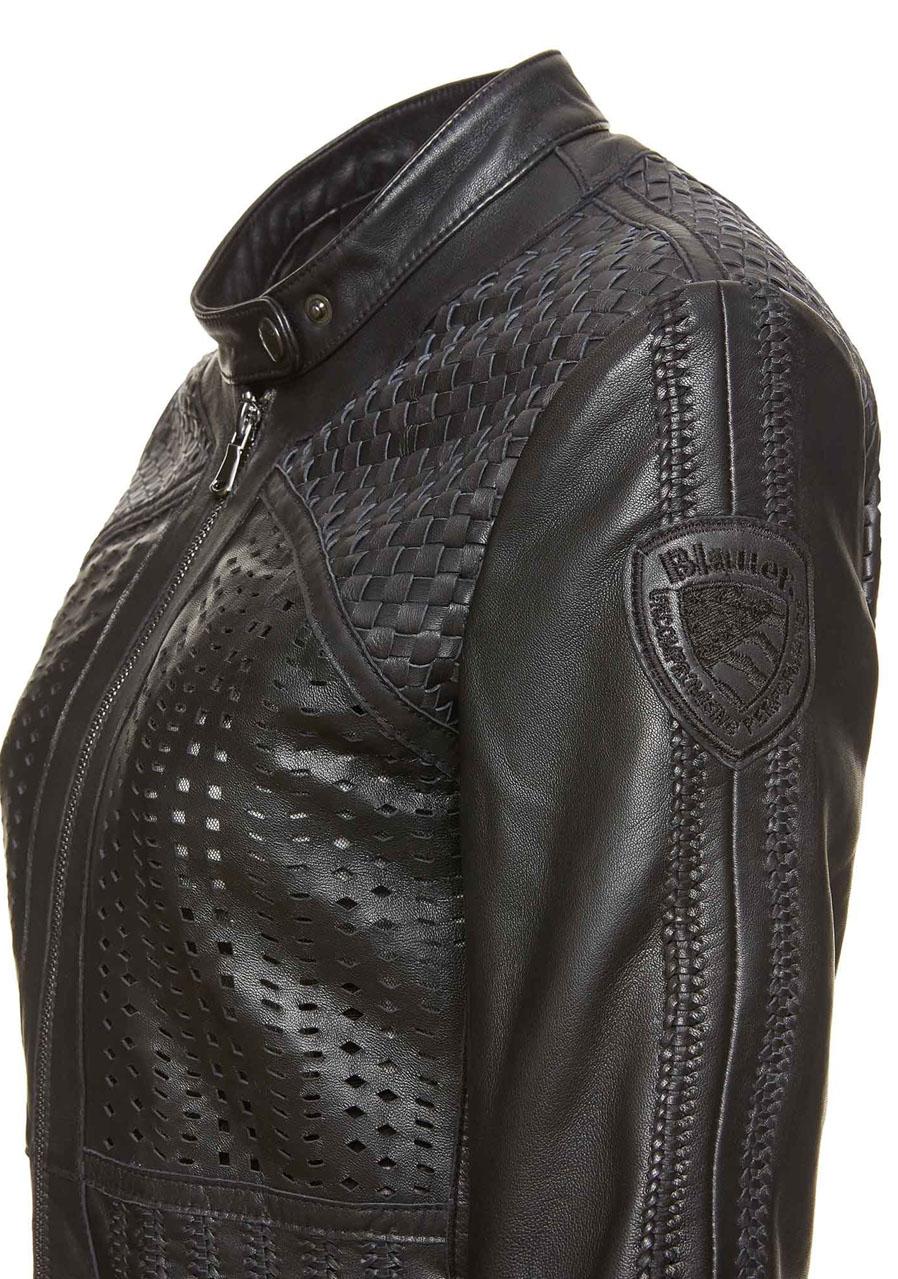 detail Dámská kožená bunda Blauer 18SBLDL02415 87dfbc530b3