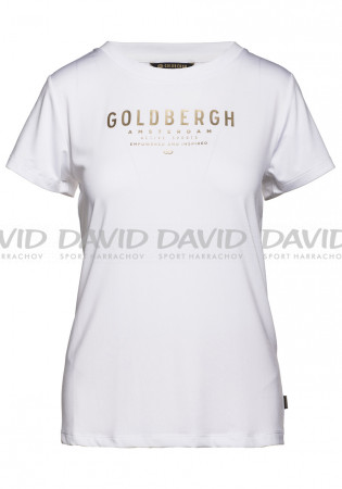 detail Dámské triko Goldbergh DAISY short sleeve top WHITE