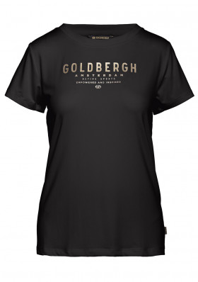 Dámské triko Goldbergh DAISY short sleeve top BLACK/GOLD