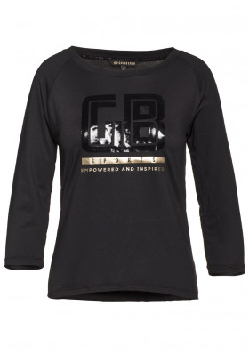Goldbergh DAPHNE 3/4 sleeve top BLACK