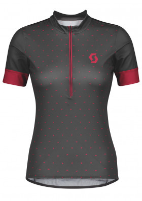 Dámský cyklodres Scott Shirt Endurance 20 s/sl dark grey/lollipop pink