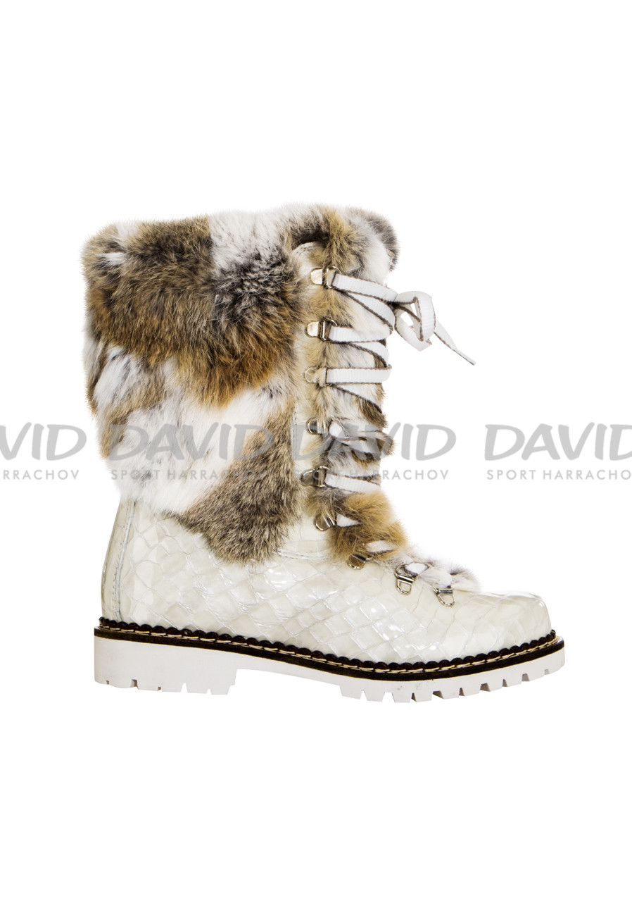 detail Dámské kožešinové boty Nis 1415400A Scarponcino Vitello Beige a21722f2b8