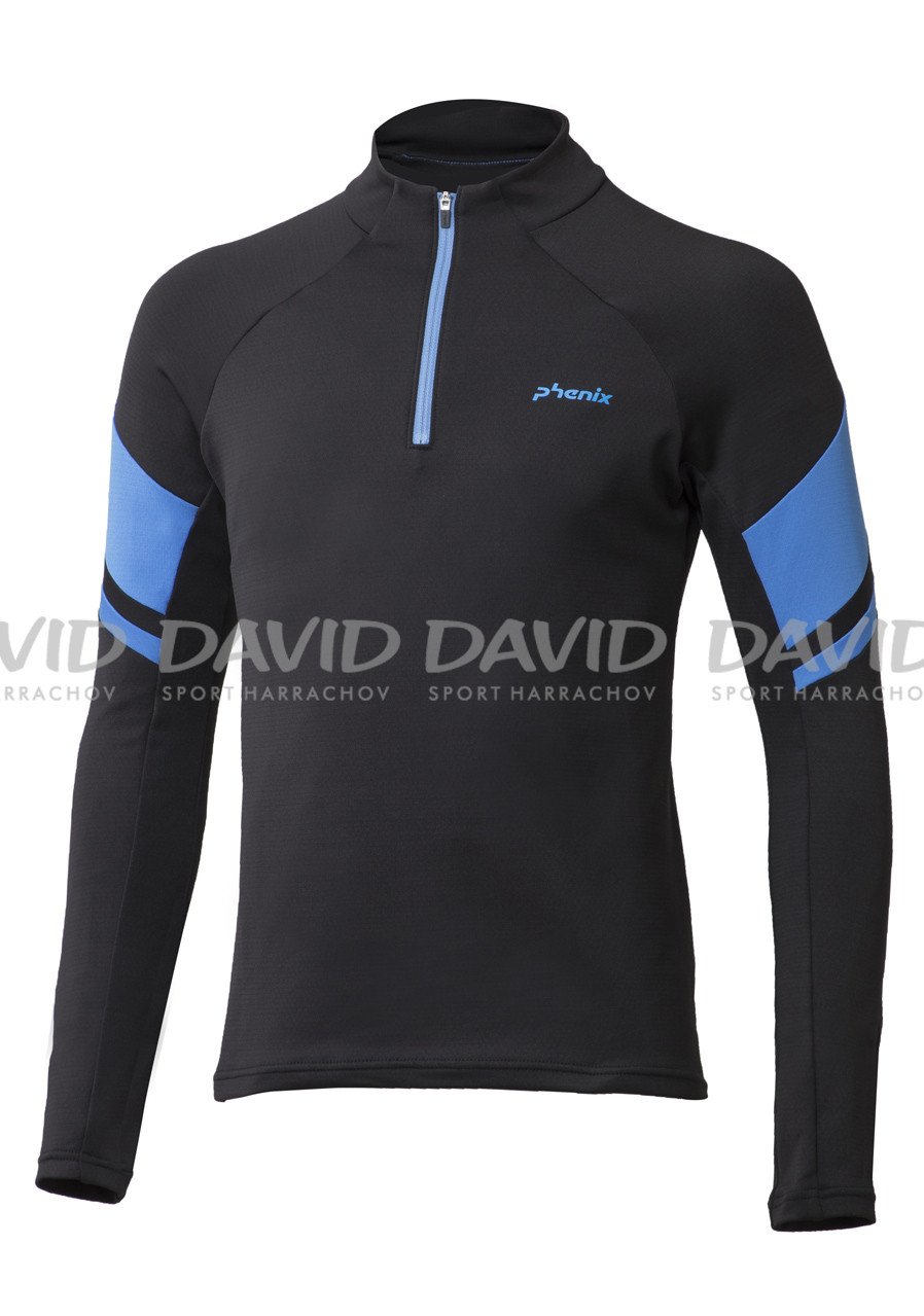 PHENIX 17 ES772LS04 SNOW TRAIL1/2 ZIP BLACK