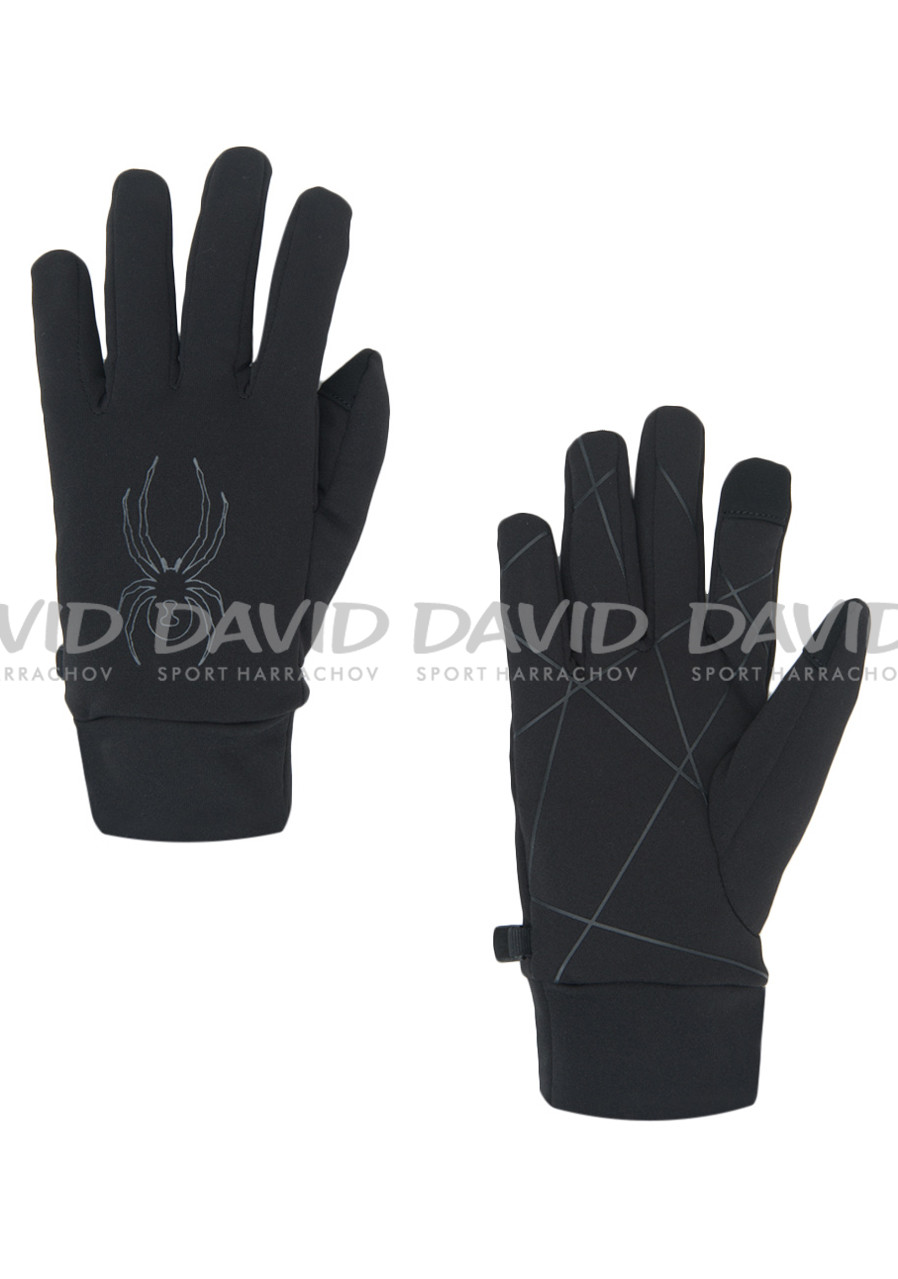 Spyder 185046-001 M Solace Stretch Fleece Glove Blk/Blk