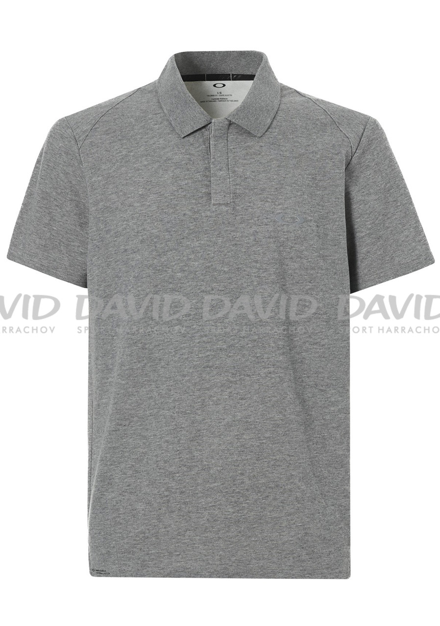 Pánské polo triko Oakley Link Ss Polo Athletic Heather Grey