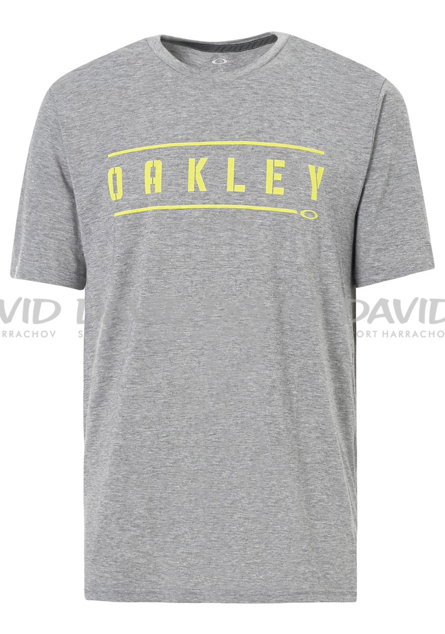 Pánské triko Oakley So- Double Stack Athletic Heather Grey