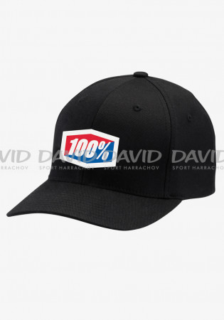 detail Kšiltovka 100% OFFICIAL X-Fit FlexFit®Hat Black