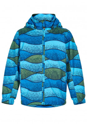 Dětská bunda Color Kids Jacket AOP Bluejay