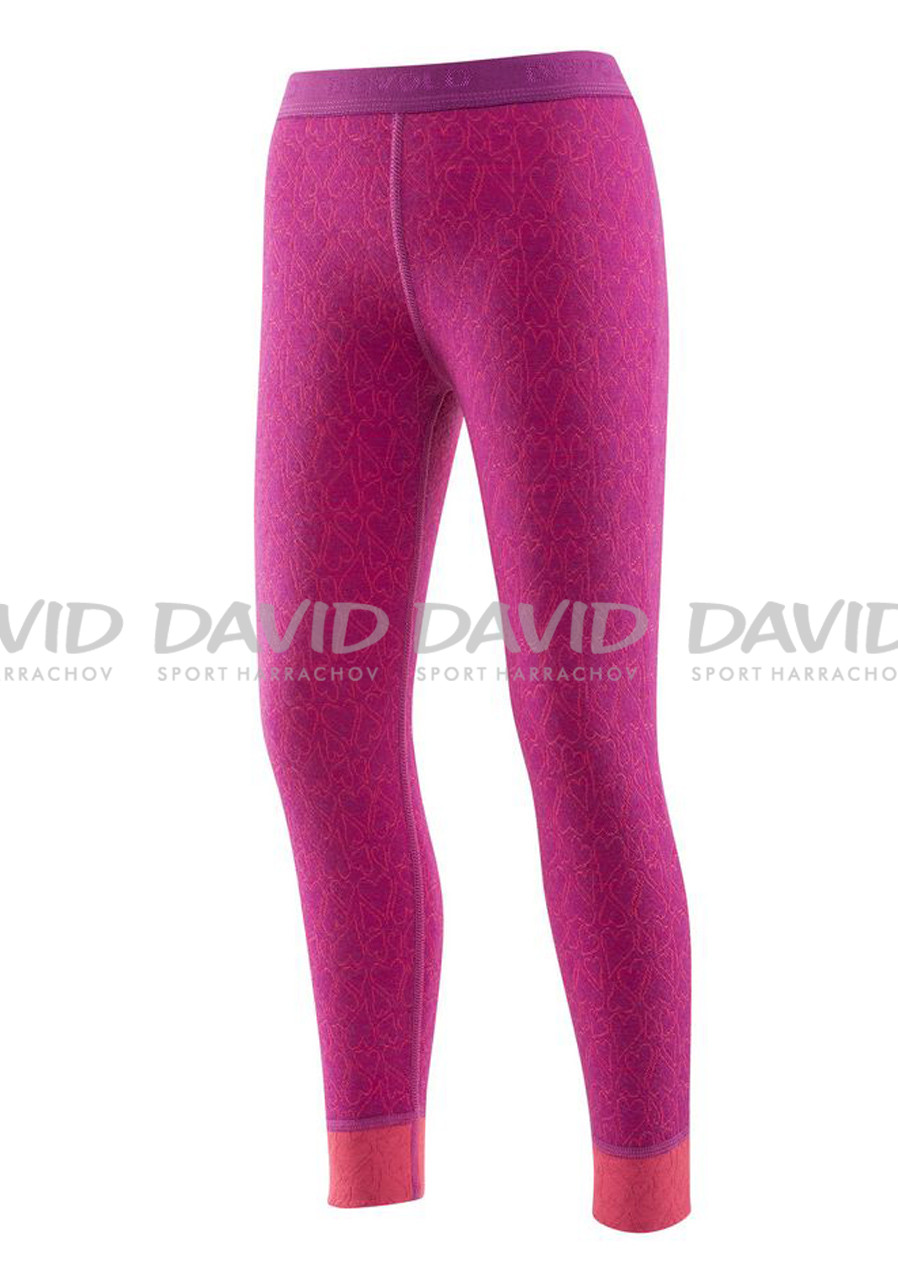 DEVOLD ACTIVE HAPPY HEARTS KID LONG JOHNS