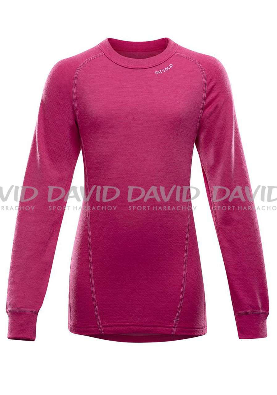 DEVOLD DUO ACTIVE JUNIOR SHIRT CERISE