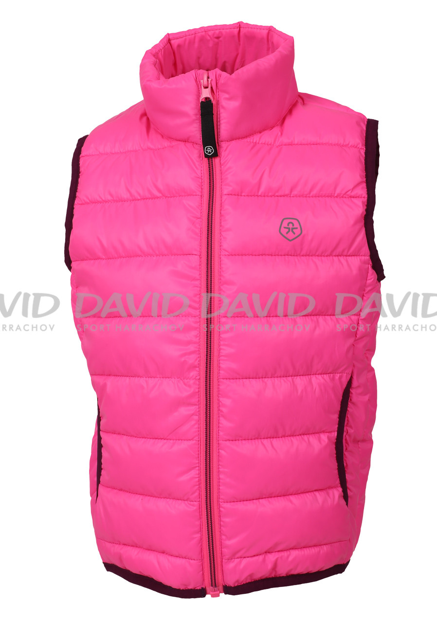 Color Kids Karl padded waistcoat Candy pink