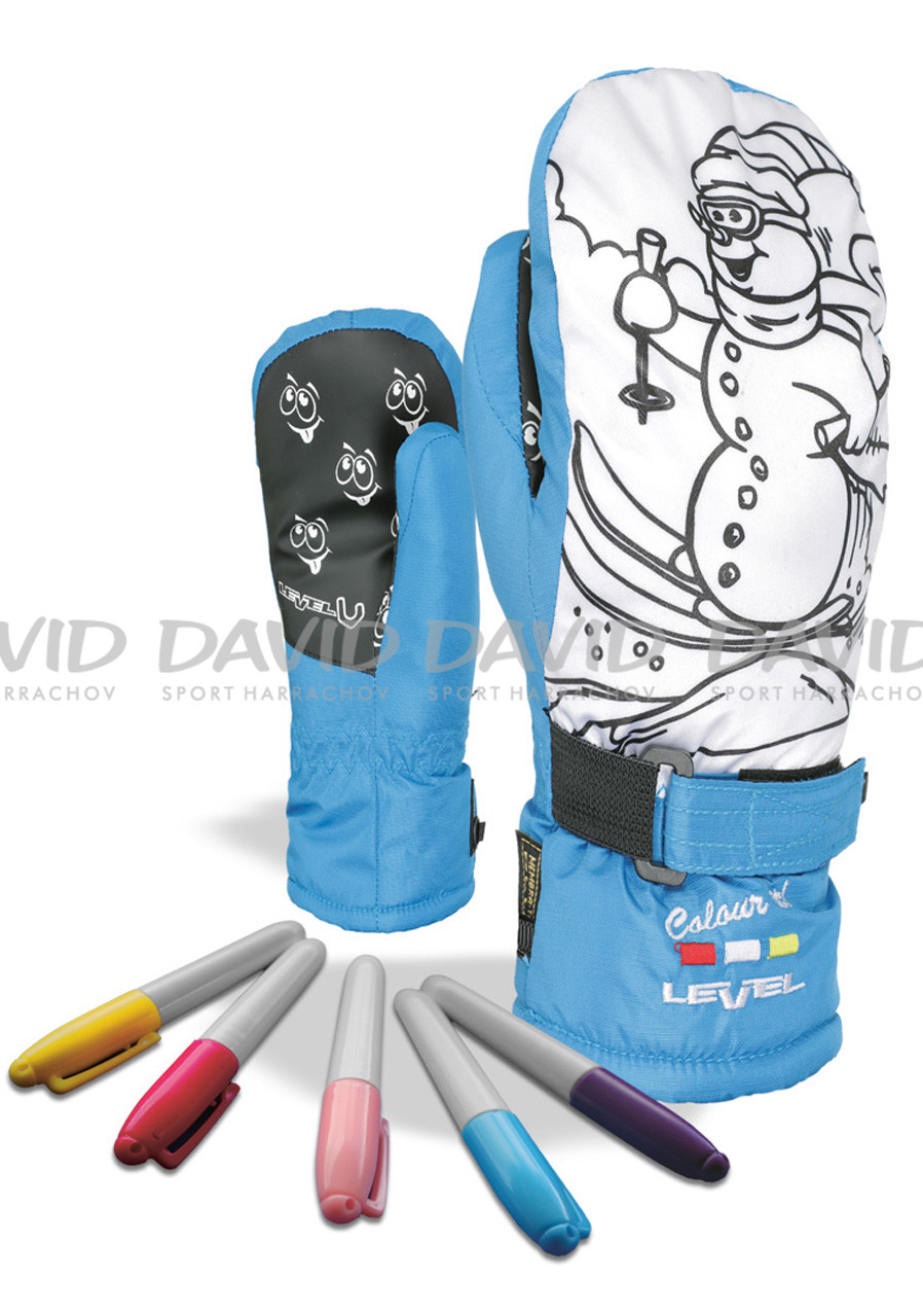 detail LEVEL POP-ART JR MITT BLUE