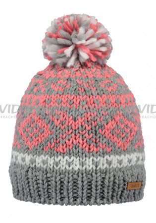 detail Barts Log Cabin Beanie Kids heather grey