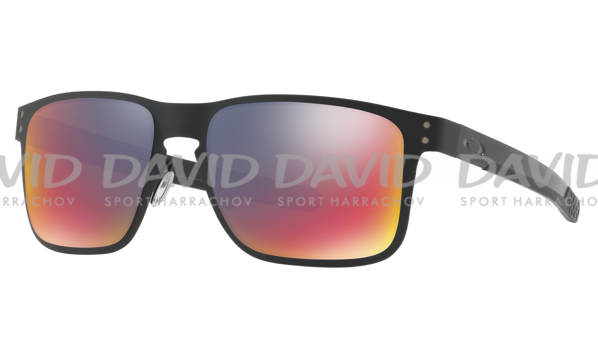 detail OAKLEY 4123-0255 HOLBROOK METAL BLK/RED IRID
