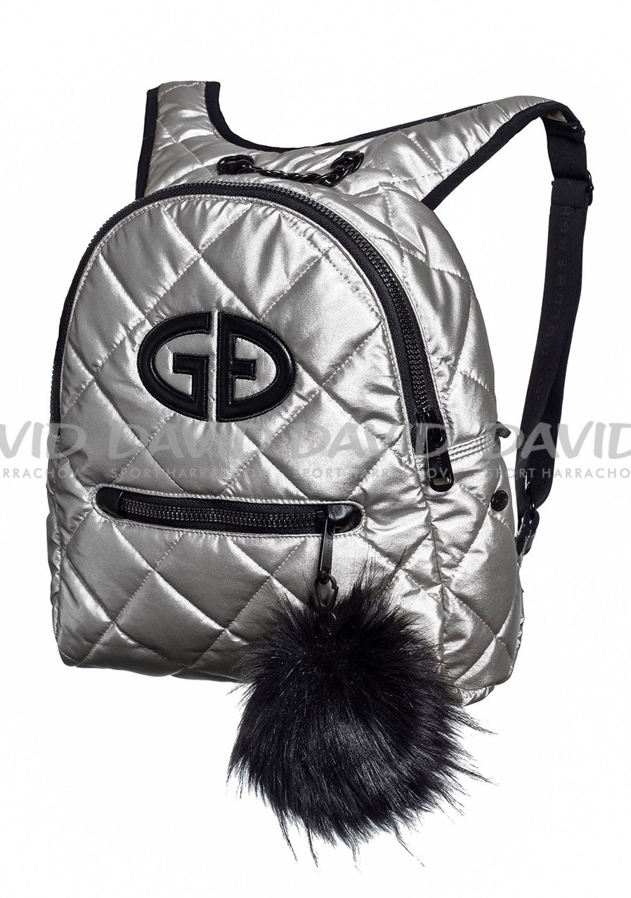 Goldbergh Nagisa Bag (real Raccoon Pompon) Silver