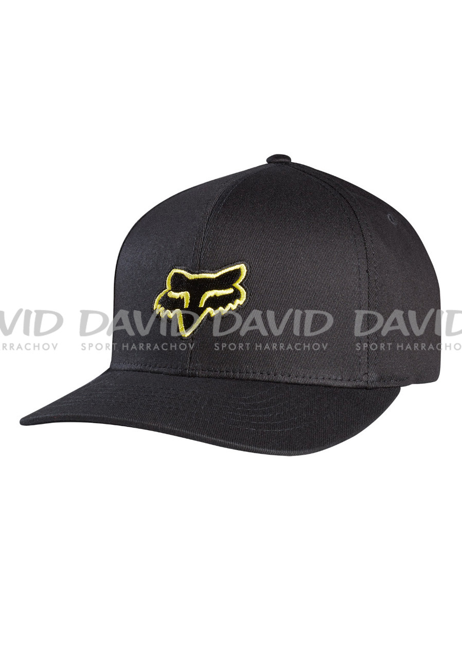 Kšiltovka Fox Legacy Flexfit Hat Black Yellow