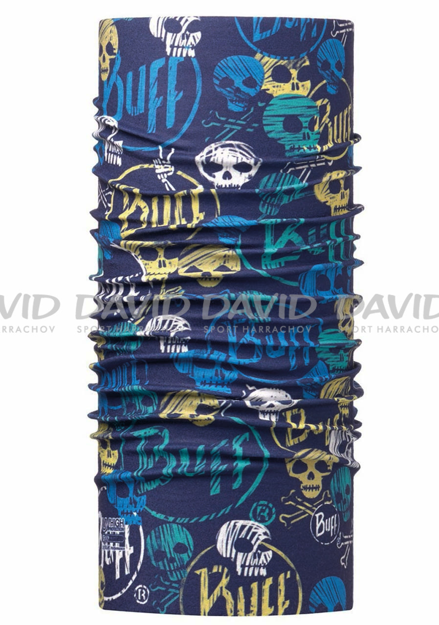 Šátek BUFF 115082 SKULLS DARK NAVY