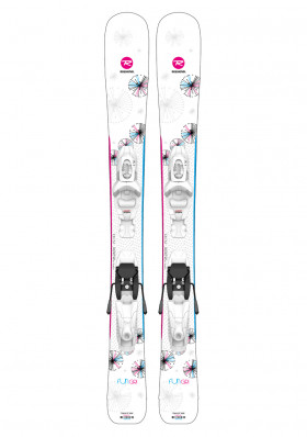 Rossignol Fun Girl Kid-X 100-130 +Kid-X 4 B76 wht/silv-set