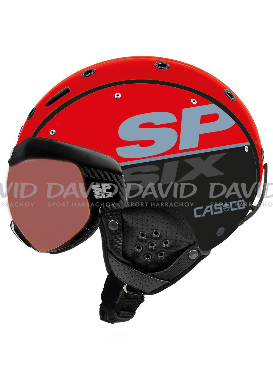 Sjezdová helma Casco SP-6 Visor Red-black