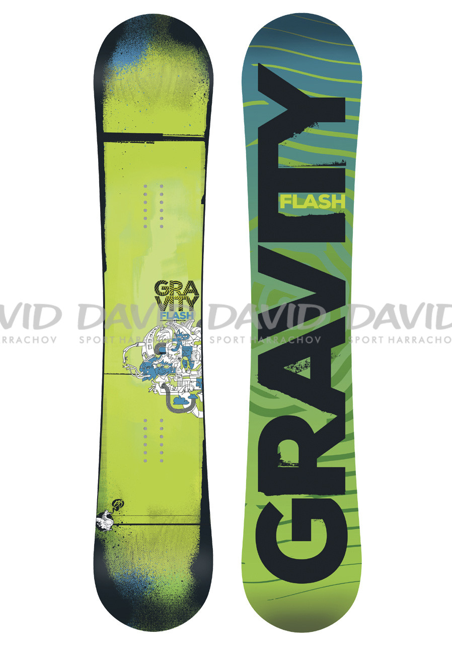 Snowboard Gravity Flash Green