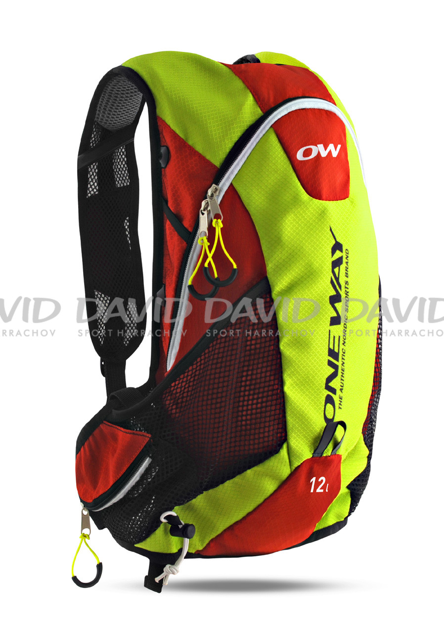 náhled ONE WAY RUN Hydro backbag 12L yell/red