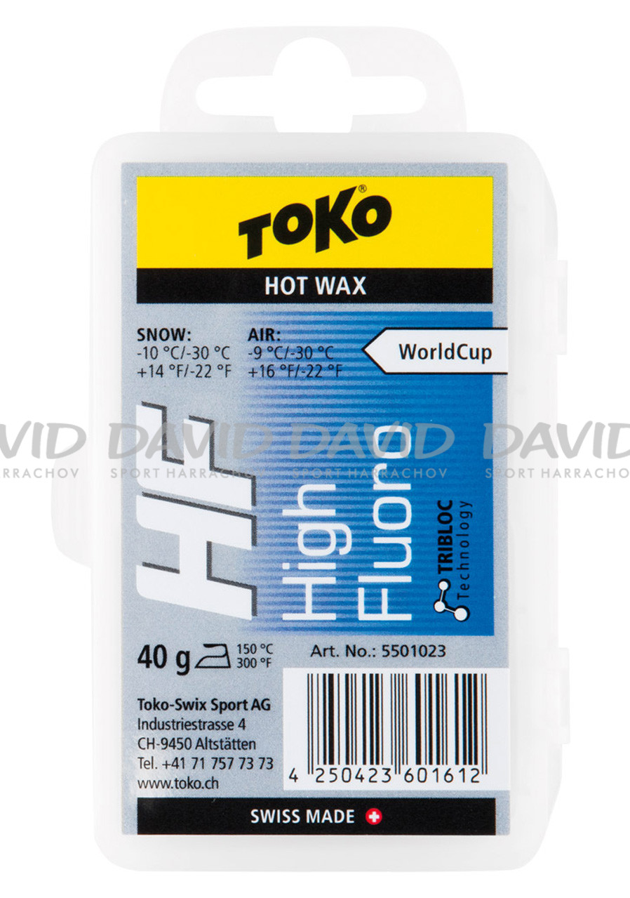 detail VOSK TOKO HF Hot Wax blue