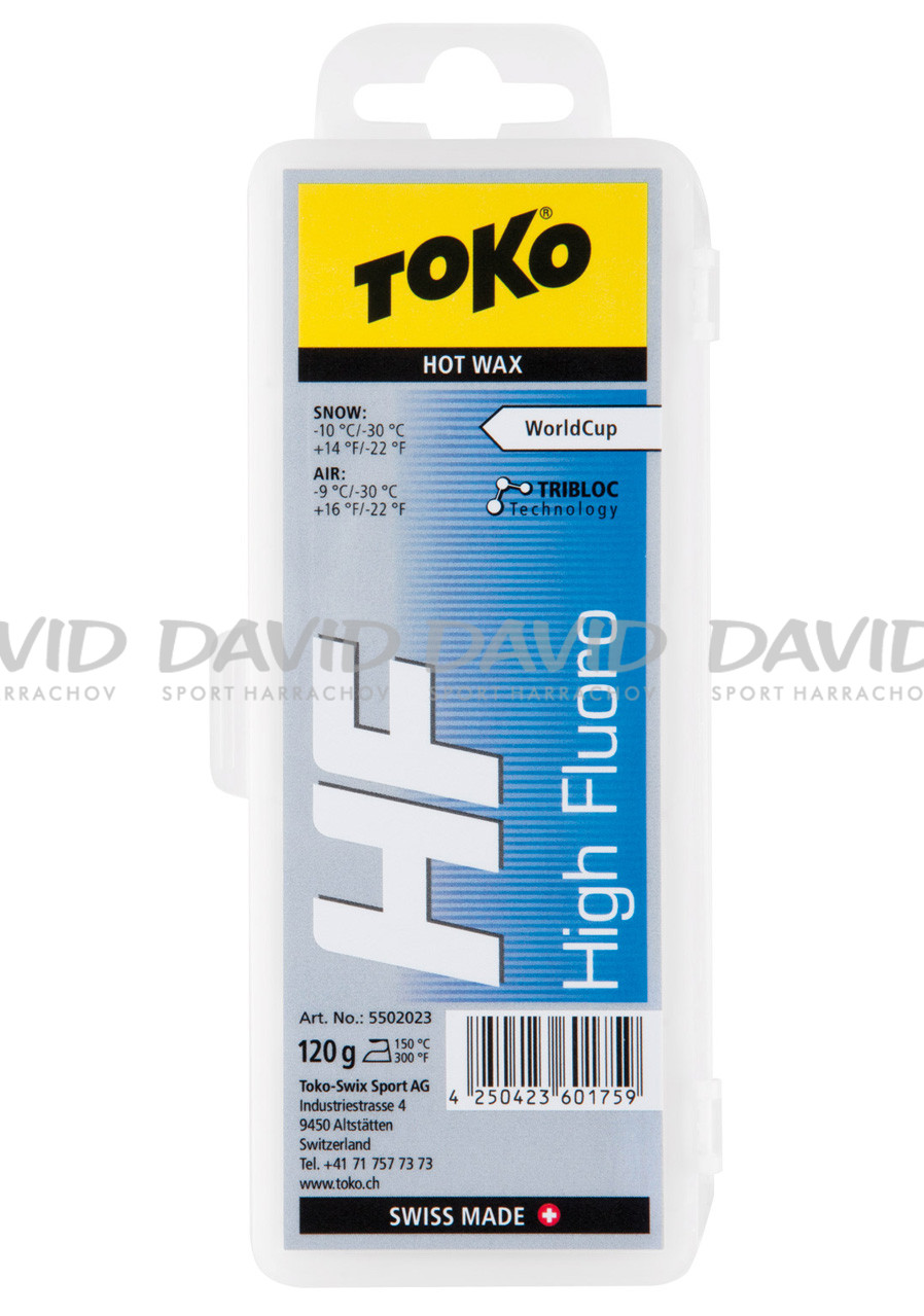 Vosk Toko HF Hot Wax Blue 120g