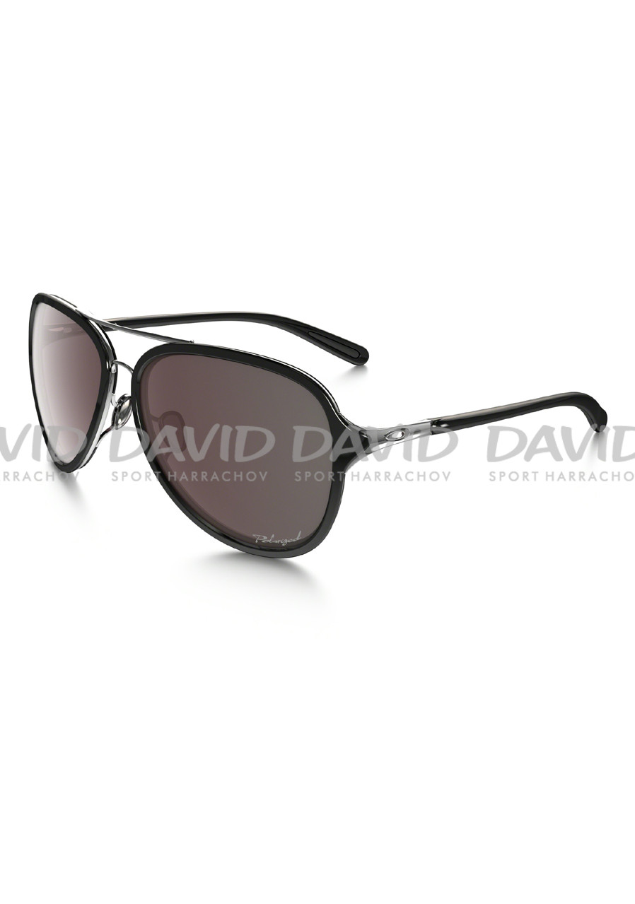 OAKLEY OO4102-04 KICKBACK SATIN CHROME/BLK