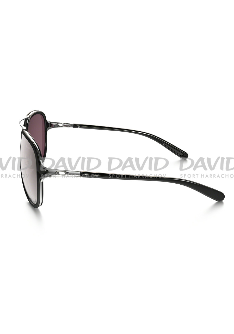 detail OAKLEY OO4102-04 KICKBACK SATIN CHROME/BLK