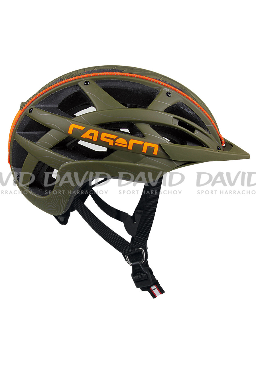 Helma na kolo Casco Cuda Mountain Olive-Orange