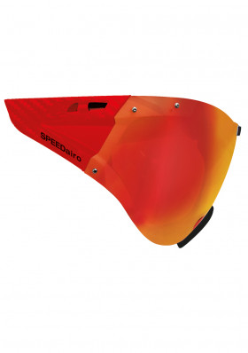 Cyklistický štít Casco SPEEDmask Carbonic Red Multilayer