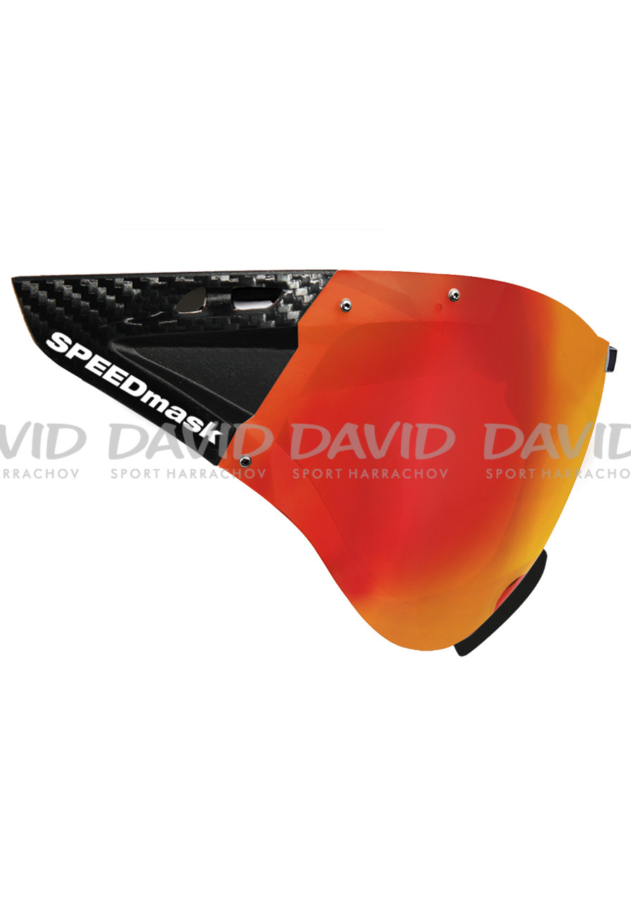 detail Cyklistický štít Casco SPEEDmask Carbonic Red Multilayer