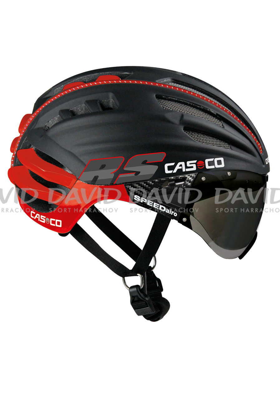 Cyklistická helma CASCO SPEEDAIRO RS+VISIER VAUTRON BLACK/RED