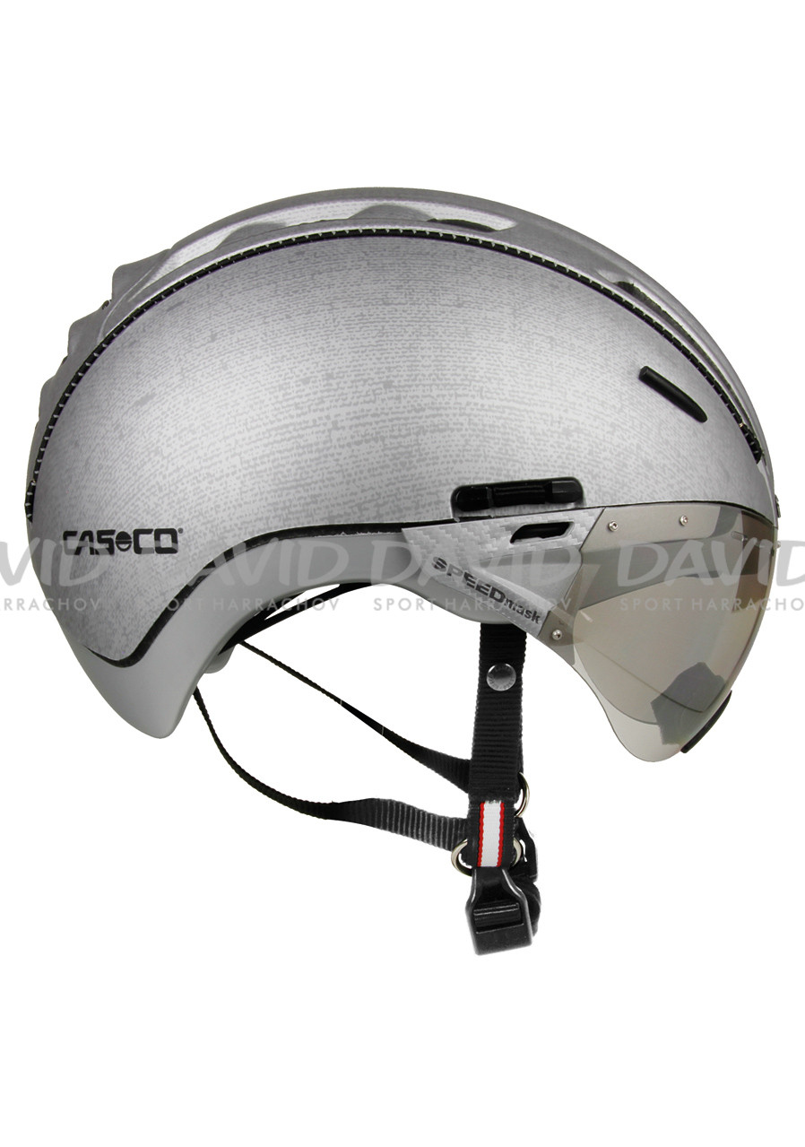 detail CASCO ROADSTR SILVER DENIM+VISOR
