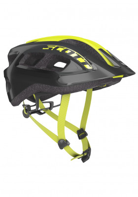 Cyklistická helma Scott Supra (CE) Black/Radium Yellow