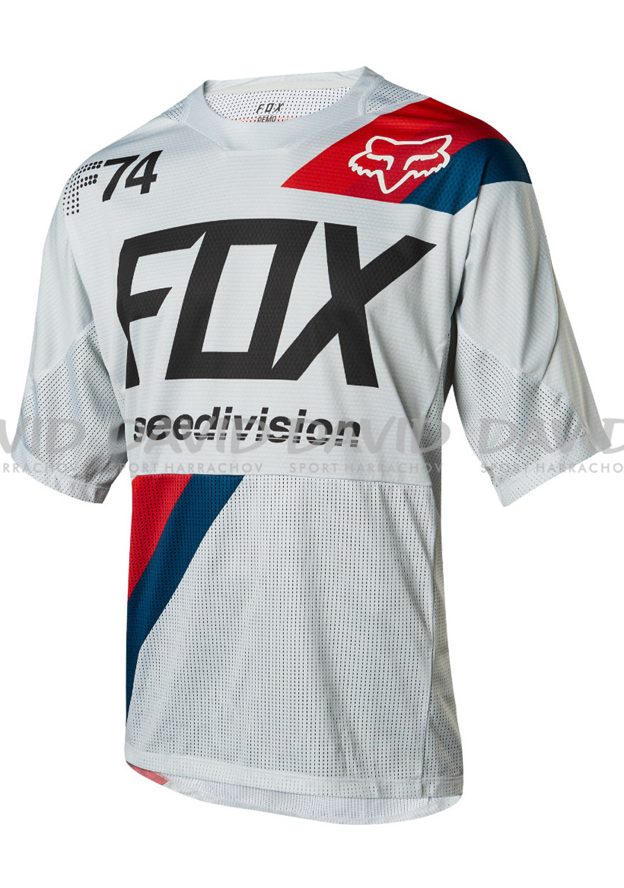Pánský dres FOX DEMO SS DRAFTER JERSEY COOL GREY