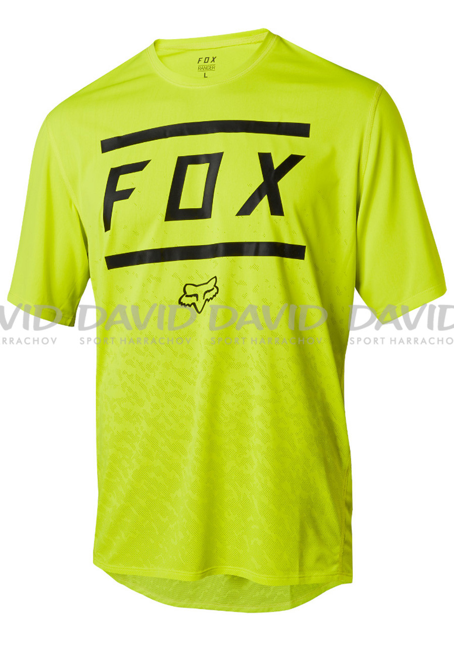 Fox Ranger SS Bars Jersey Yellow/Black