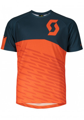 Dětský cyklodres Scott Shirt Jr Trail 10 s/sl ntf bl/md or