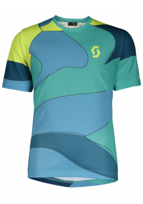 Dětský cyklodres Scott Shirt Jr Trail 20 s/sl baltic turq