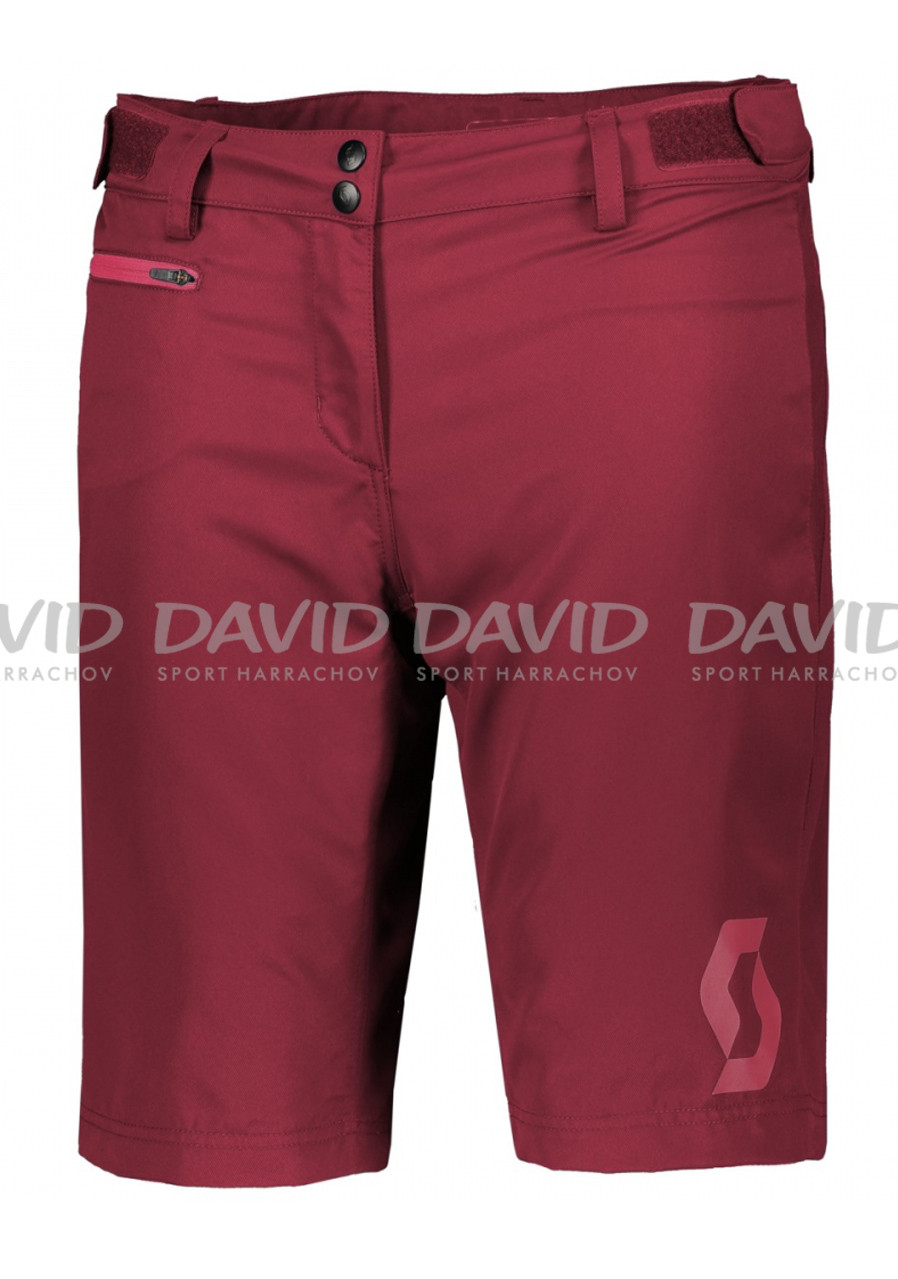 Dámské cyklokraťasy Scott Shorts W's Trail 40 ls/fit w/pad tibetan red